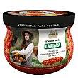 Verduritas para untar en tostas de pimiento y cebolla  Tarro 180 g La Piara