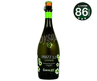 Codornew Vino blanco verdejo frizzante Frizz 5.5 Botella de 75 cl