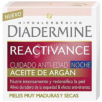 Diadermine Cuidado anti-edad crema de noche con Aceite de Argán Reactivance Tarro 50 ml
