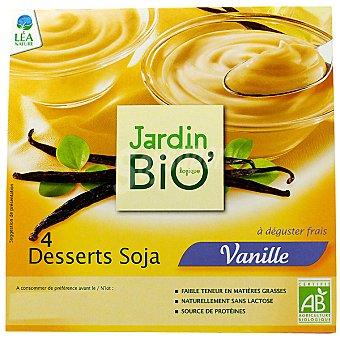 Jardin BIO' postre de soja con vainilla ecológico envase 500 g pack 4x125g
