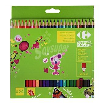 Carrefour Lápices de colores 24 unidades