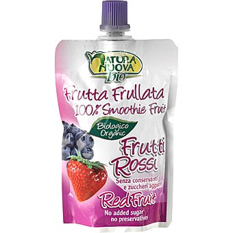 Natura nuova Puré de arándanos y fresa para beber ecológico formato pouche Envase 100 g