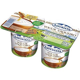 ASTURIANA Yogur vaqueiro natural con miel de asturias  2 unidades de 125 g