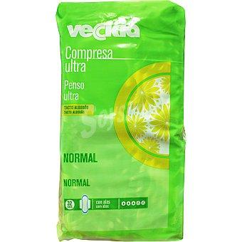 Veckia Compresa ultra con alas tacto algodón normal bolsa 32 unidades Bolsa 32 unidades
