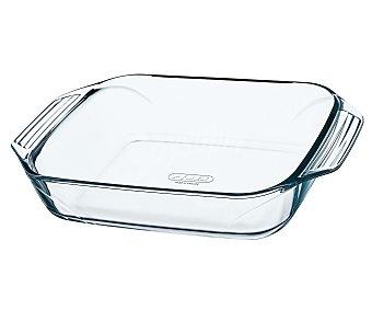 PYREX Fuente rectangular fabricada en vidrio borosilicato, 35x23 centímetros, apta para horno, microondas y lavavajillas, modelo Optimum 1 unidad