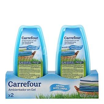 Carrefour Ambientador absorbeolores en gel ropa limpia 2 ud
