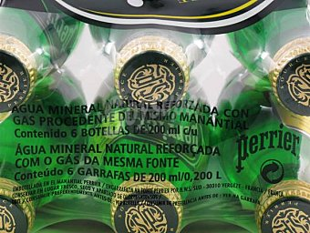 Perrier Agua Mineral con Gas Botella Cristal Pack6x20 cl