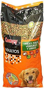 Compy Comida perro seca mix con buey, pollo, verduras y arroz adulto razas medianas y grandes Paquete 20 kg