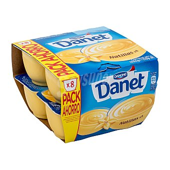 Danet Danone Natillas de vainilla pack 8 unidades 125 g