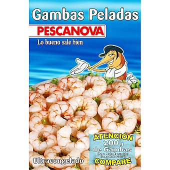 Pescanova Gambas peladas Bolsa 200 g neto escurrido