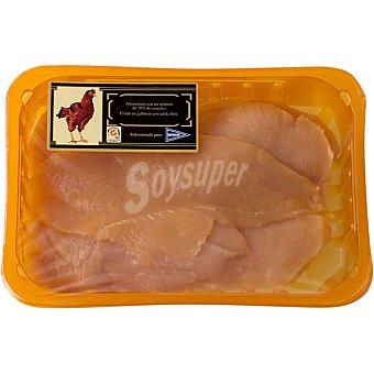Hipercor Filetes pechuga pollo de corral peso aproximado bandeja 350 g 4 unidades