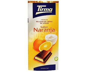 Tirma Chocolate relleno de crema de yogur de naranja 95 gramos