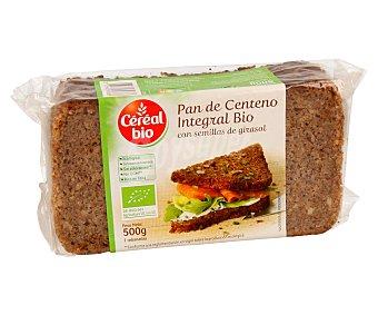 CEREAL BIO Pan de centeno con semillas de girasol de cultivo ecológico 500 gramos