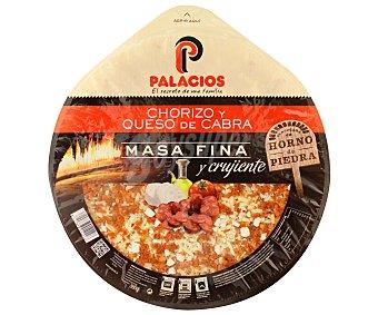 Palacios Pizza fresca de chorizo, masa fina 380 g