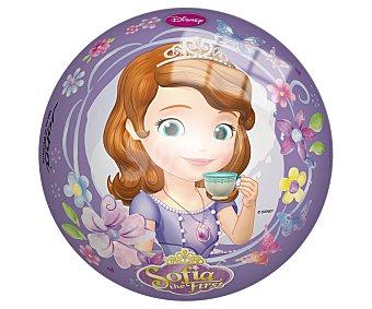 Disney Pelota infantil de 14 centímetros decorada con los personajes de la serie Princesa Sofía 1 unidad