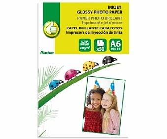Productos Económicos Alcampo Papel foto High Glossy A6 230 Gramos 230 Gramos