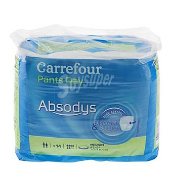 Carrefour Pañales Pants Day medianos Absodys 14 ud