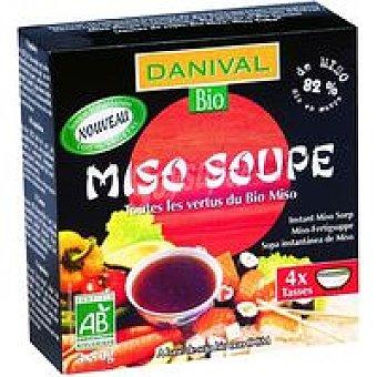 DANIVAL Sopa miso cebada francia 4x10 g