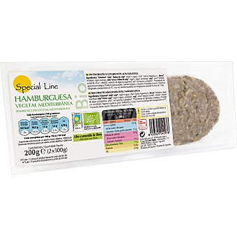 Special Line Hamburguesa vegetal mediterránea ecológica sin gluten Envase 200 g