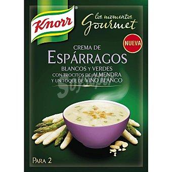 Knorr Crema de espárragos blancos y verdes con trocitos de almendra Los momentos Gourmet sobre 49 g