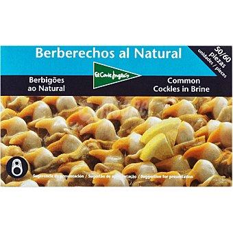El Corte Inglés Berberechos de Holanda al natural 50-60 piezas Lata 63 g neto escurrido