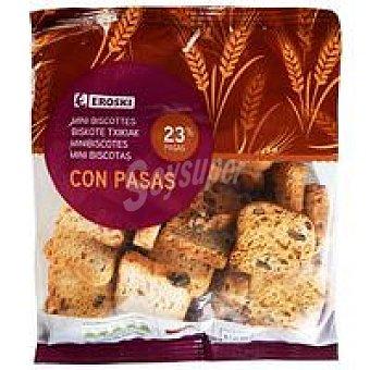 Eroski Mini biscotte con pasas Bolsa 100 g