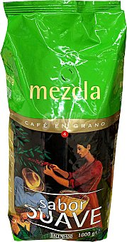 HACENDADO Café grano mezcla suave Paquete de 1 kg
