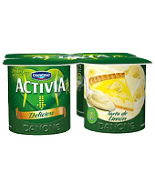 Danone - Activia Yogur tarta queso y limón Danone pack de 4x125 g