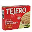 Filetes de caballa en aceite de oliva de Andalucia  lata 160 g neto escurrido Tejero