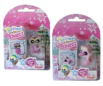 SIMBA Mini mascotas Yoohoo & Friends abrigados para la nieve, incluye 1 figura y 1 carta coleccionable 1 unidad