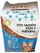 Comida gato croqueta salmón atún verduras Paquete de 2 kg Compy