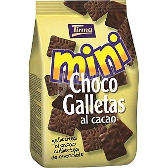 TIRMA Mini Choco Galletitas al cacao cubiertas de chocolate negro bolsa 125 g Bolsa 125 g