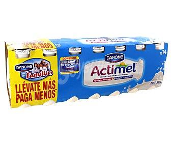 Actimel Danone Yogur Liquido Lactocasei Imunitass Natural Pack 14 Unidades de 100 Gramos