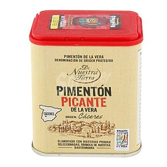 De nuestra tierra Pimentón picante de la Vera - Sin Gluten - De Nuestra Tierra 70 g