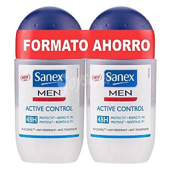 Sanex Men Desodorante Dermo Active Control Roll-on Pack de 2x45 ml