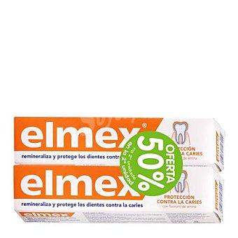 ELMEX Dentífrico Protección contra la caries 2 tubos de 75 ml