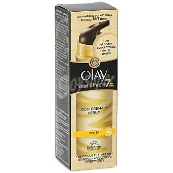 Olay Crema total effects 7 en 1 con serum antiedad FP 20 Frasco 40 ml