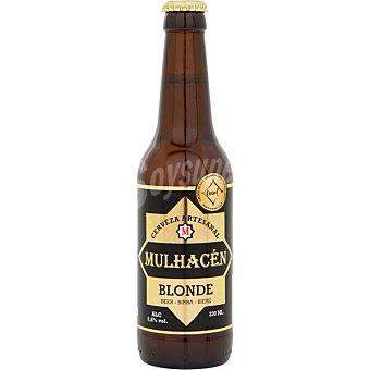 MULHACÉN Blonde cerveza rubia artesana de Granada botella 33 cl botella 33 cl