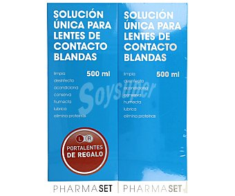 Pharmaset Solución única para lentes de contacto blandas 2 x 500 ml