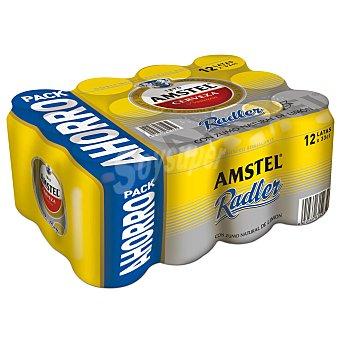 Amstel Cerveza Radler con zumo de limón Pack 12 x 33 cl