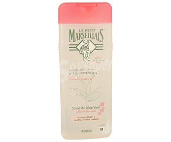 Le Petit Marseillais Gel de ducha hipoalergénico con aloe vera y flor de manzano Bote 400 ml