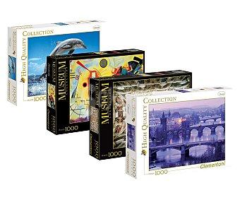 CLEMENTONI Puzzle de 1000 piezas High Cuality Collection con imágenes que imitan cuadros 1 unidad