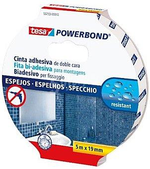 Tesa Cinta adhesiva doble cara para espejos 19mm x 5 Metros