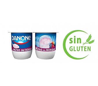 Danone Yogur sabor frutas del bosque  4 unidades de 120 g