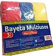 Bayeta microfibra multiusos (especial cocina, baño Y salón) Paquete 3 u Bosque Verde
