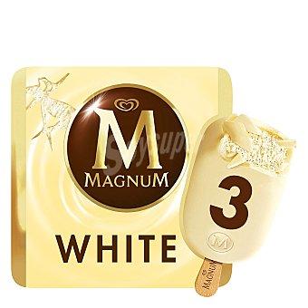 Magnum Helado de chocolate blanco pack de 3x110 ml