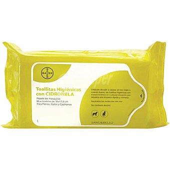 BAYER Sano&Bello Toallitas higiénicas con cidro para perros y gatos Paquete 35 unidades
