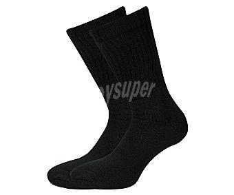 In Extenso Pack de 2 pares de calcetines canalé térmicos, color negro, talla única Pack de 2