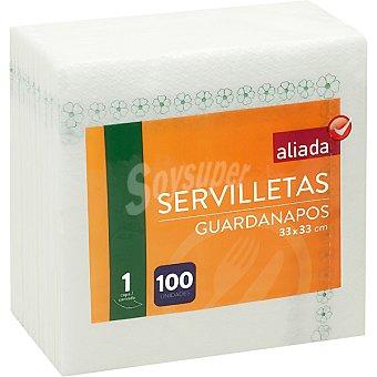 Aliada Servilletas decoradas 1 capa 33x33 cm Paquete 100 unidades