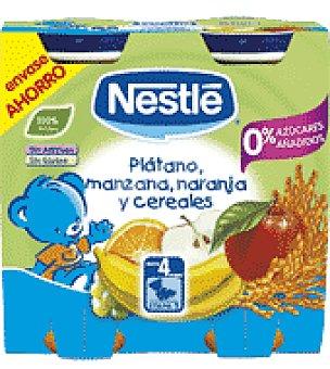 Nestlé Tarrito de platano , naranja, manzana y cereales nestlé Pack de 2 unidades de 250 g